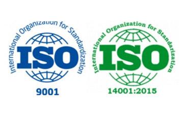 ISO9001(International Organiztion for Standardiztion), ISO2015:14001(International Organiztion for Standardiztion)